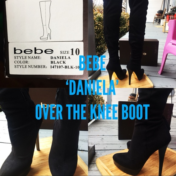 83ae01f78d270 bebe Shoes | Never Worn Over The Knee Boots | Poshmark